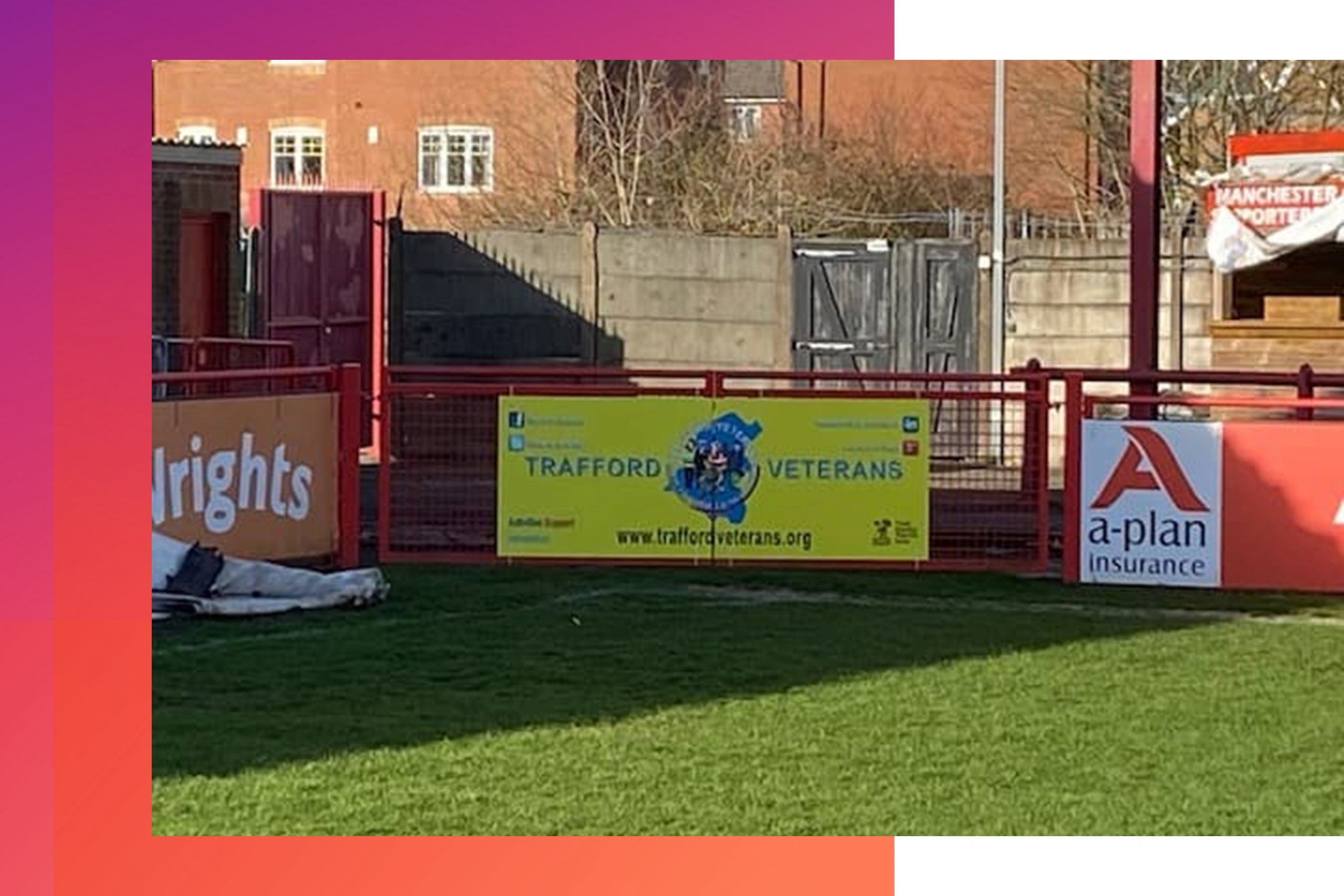 Altrincham Football Club Advertising sign